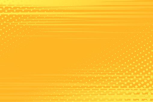 Yellow Pop Art Background — стоковая векторная графика и другие изображения на тему Абстрактный