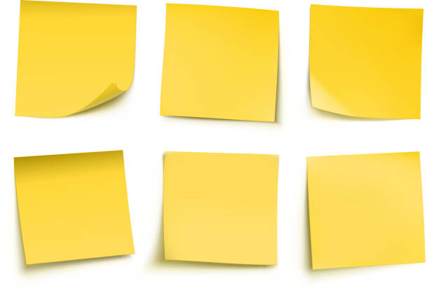 illustrazioni stock, clip art, cartoni animati e icone di tendenza di post-it giallo - post it