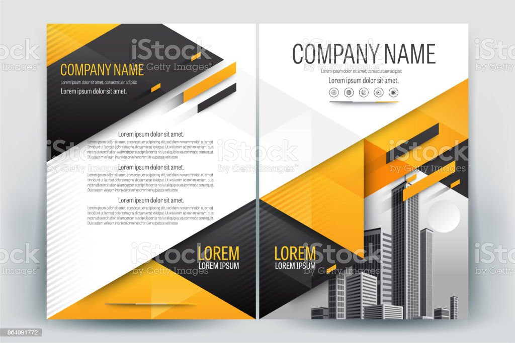 Yellow Poster Brochure Flyer design Layout background vector template A4 royalty-free yellow poster brochure flyer design layout background vector template a4 stock vector art & more images of advertisement