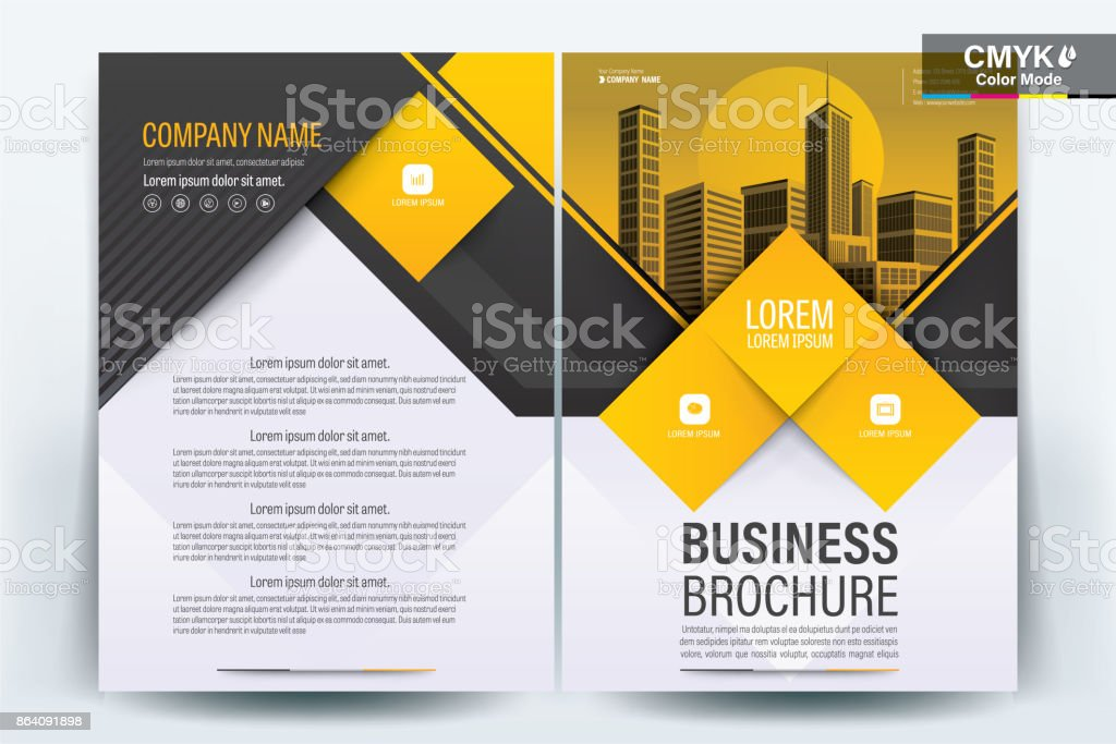 Sarı Afiş Broşür Ve Ilan Tasarım Düzeni Arka Plan Vektör şablonu A4