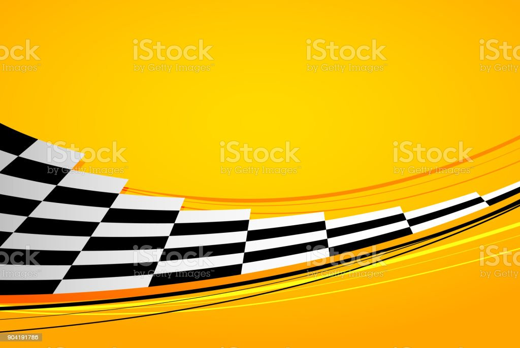 Yellow racing background vector art illustration