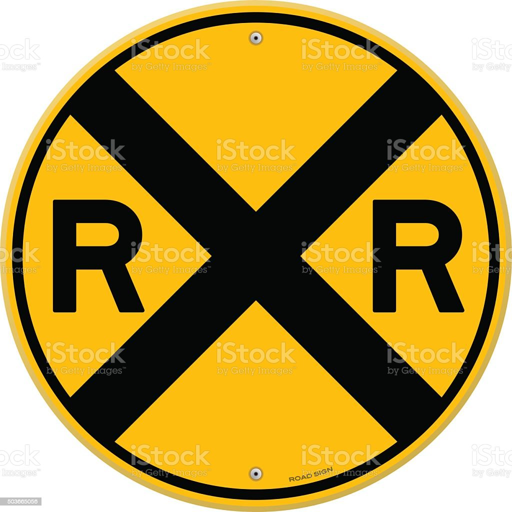 royalty free railroad crossing sign clip art vector images rh istockphoto com clipart railroad tracks clipart railroad crossing sign