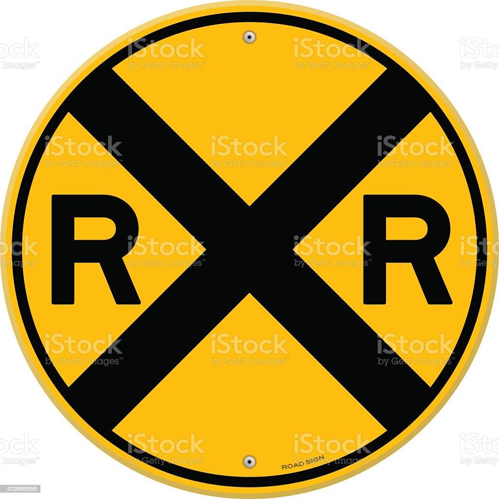 royalty free railroad crossing clip art vector images rh istockphoto com clipart railroad tracks clipart railroad crossing sign