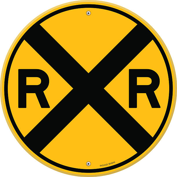 Railroad Crossing Illustrations, Royalty-Free Vector ...