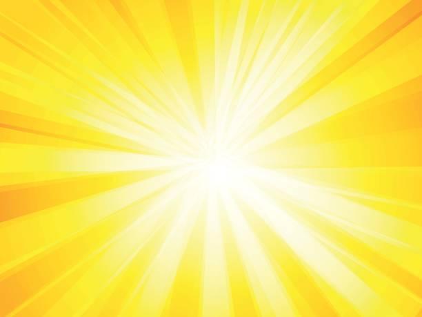 yellow rays background vector art illustration