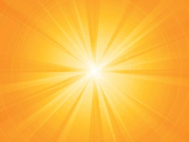yellow rays radial sun background vector art illustration