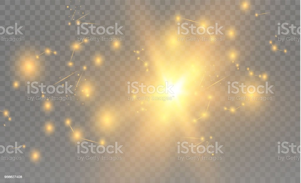 Yellow realistic triangles and golden light effects. 3D effect.motion of flying triangles. Vector illustration.For cover book, brochure, flyer, poster, magazine, cd cover design vector art illustration