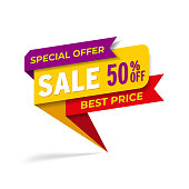 Yellow red tag final sale promotion web banner heading design on graphic white background vector for banner or poster. Sale and discount concept