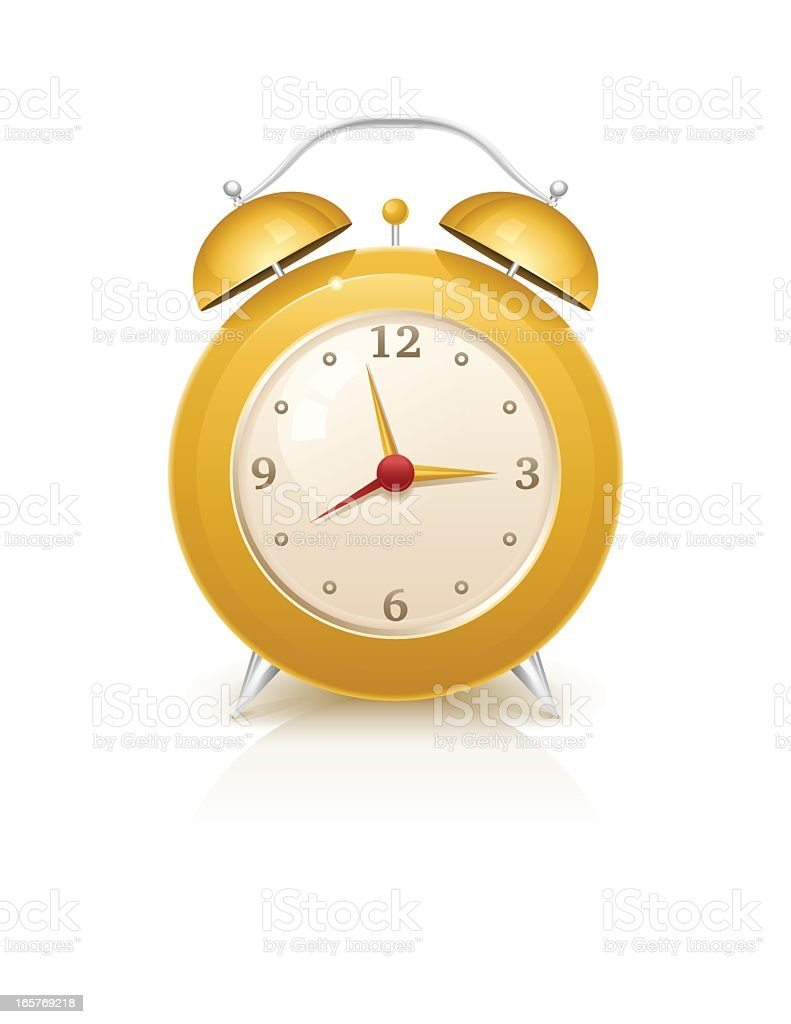Yellow Retro Alarm Clock royalty-free yellow retro alarm clock stock vector art & more images of alarm clock