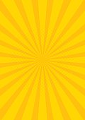 Yellow Retro vintage style background with sun rays vector illustration.