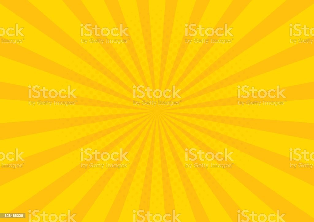 Yellow Retro vintage style background with sun rays vector illustration vector art illustration
