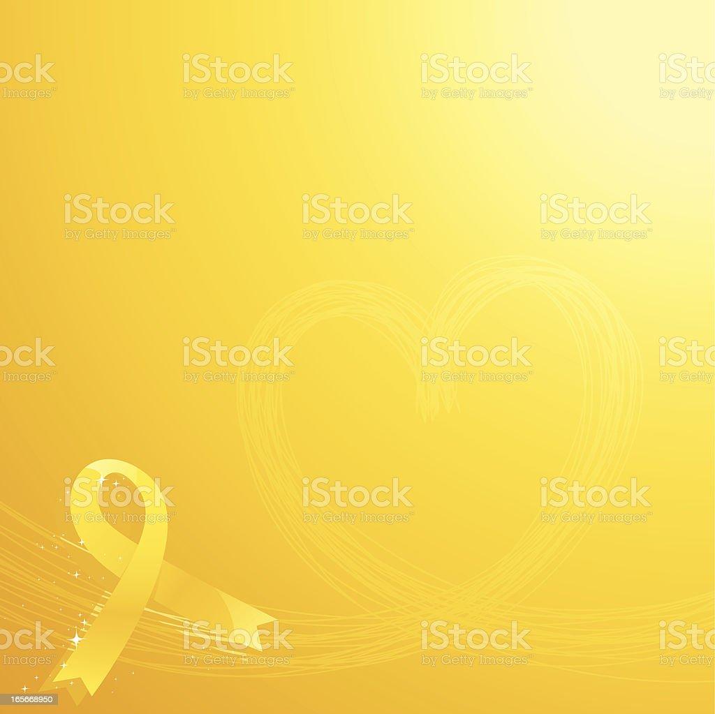 Yellow Ribbon vector art illustration