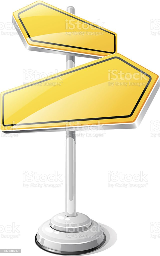 Yellow road sign isolated design template. vector art illustration