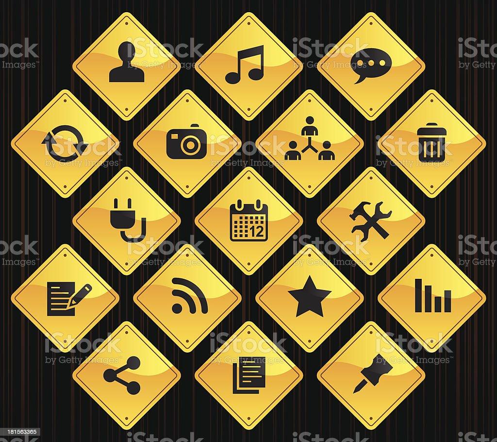 Yellow Road Signs - Blog royalty-free stock vector art