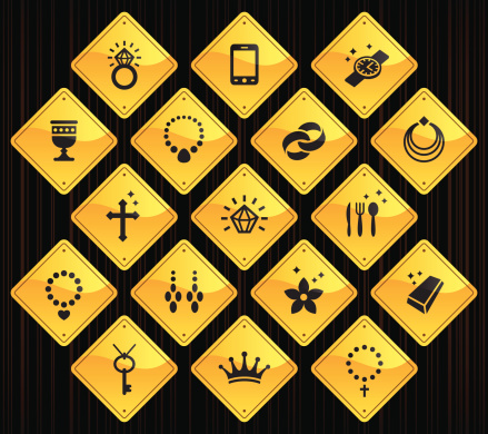 Yellow Road Signs - Jewellery