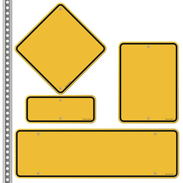 노란색 roadsigns 설정 - 노랑 stock illustrations