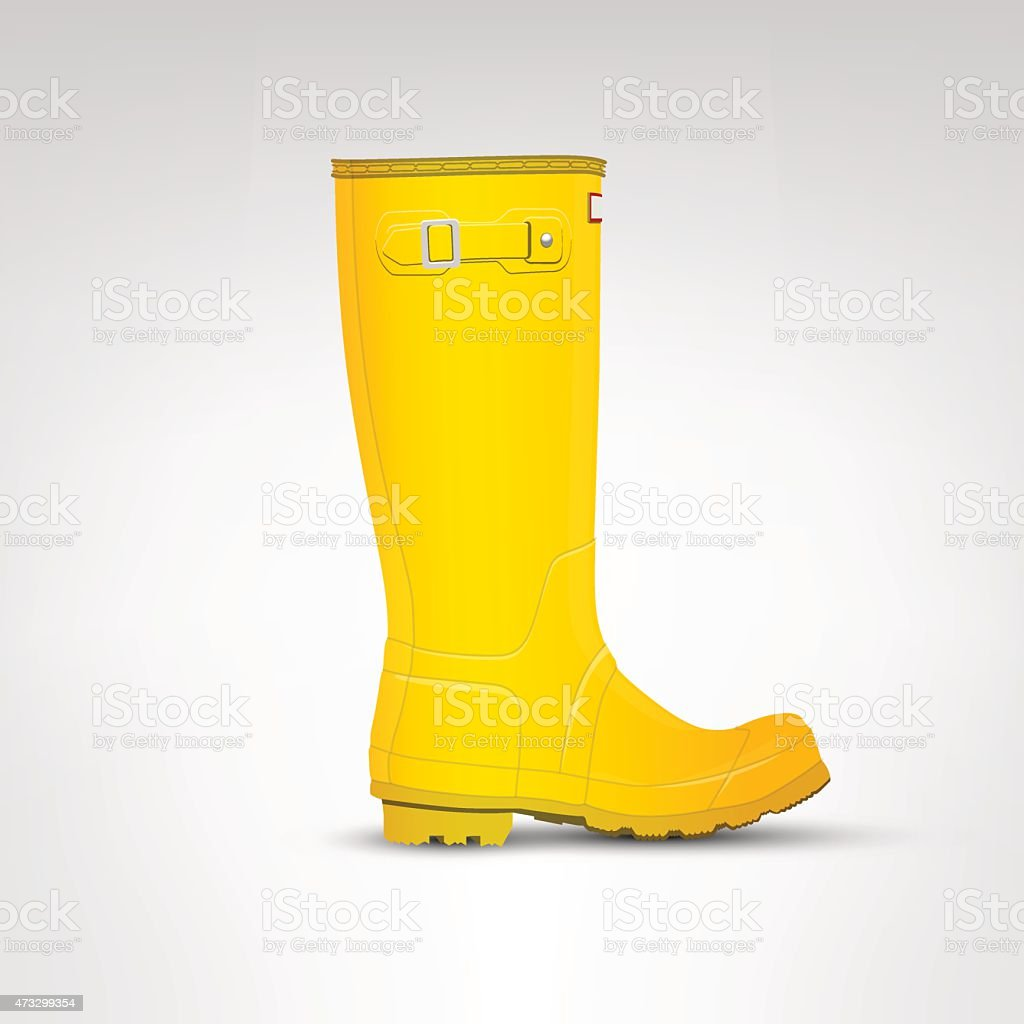 Yellow rubber boot illustration vector art illustration