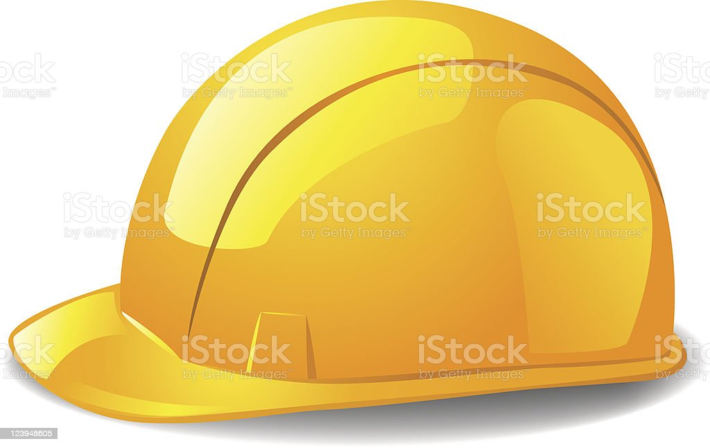Yellow safety hard hat. royalty-free stock vector art