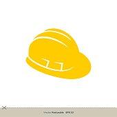 istock Yellow Safety Helmet Vector Logo Template Illustration Design. Vector EPS 10. 1245221153