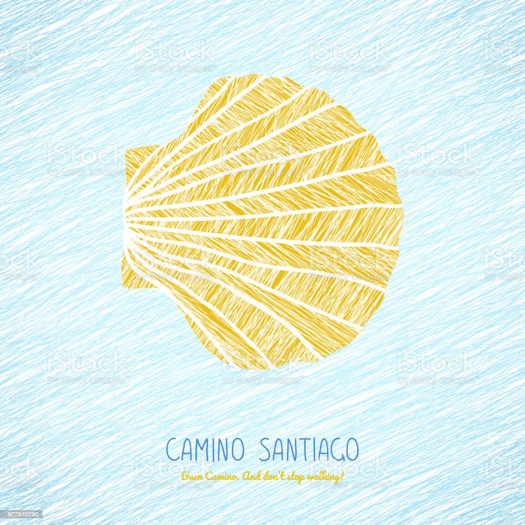 Yellow Scallop Shell Camino De Santiago Symbol Stock Vector Art