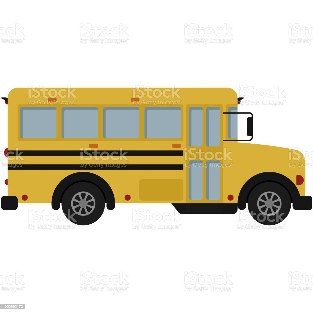 Yellow School Bus Illustration vector art illustration