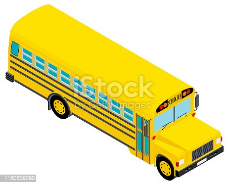 Isometric school bus.