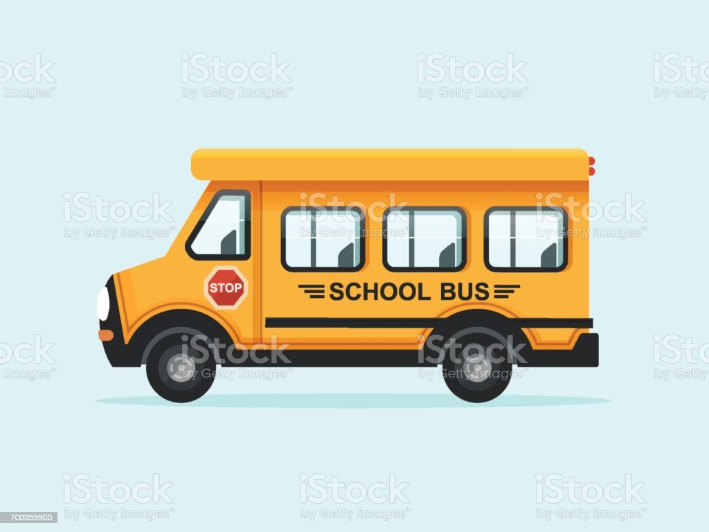 Yellow School Bus vector art illustration