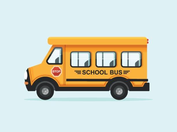 Yellow School Bus vector art illustration