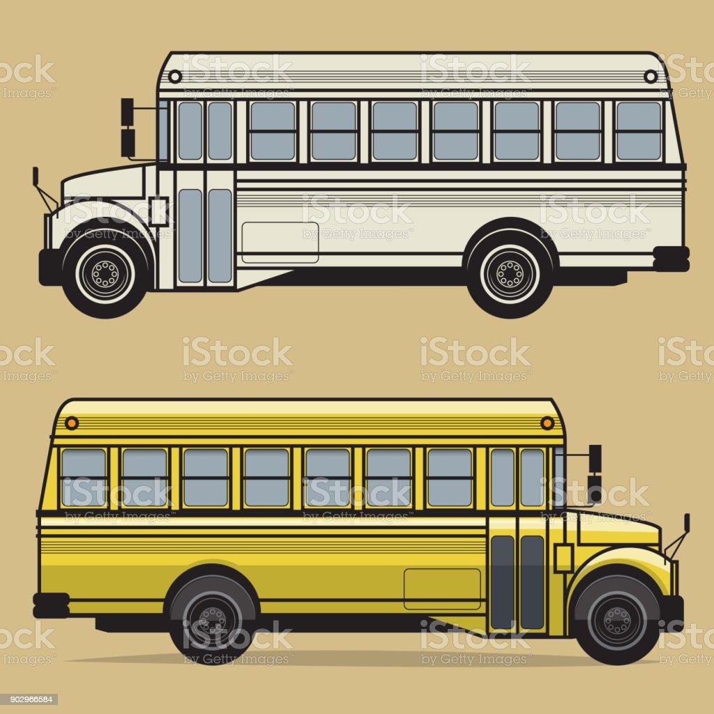 Autobús escolar - ilustración de arte vectorial