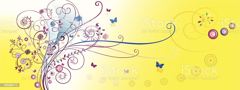 Yellow Scroll Backround royalty-free yellow scroll backround stock vector art & more images of art nouveau