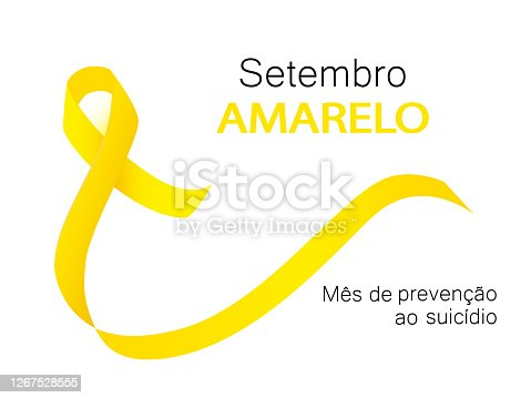 istock Yellow september suicide prevention month in Portuguese language 1267528555