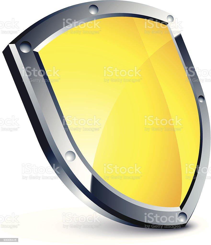 yellow shield royalty-free stock vector art