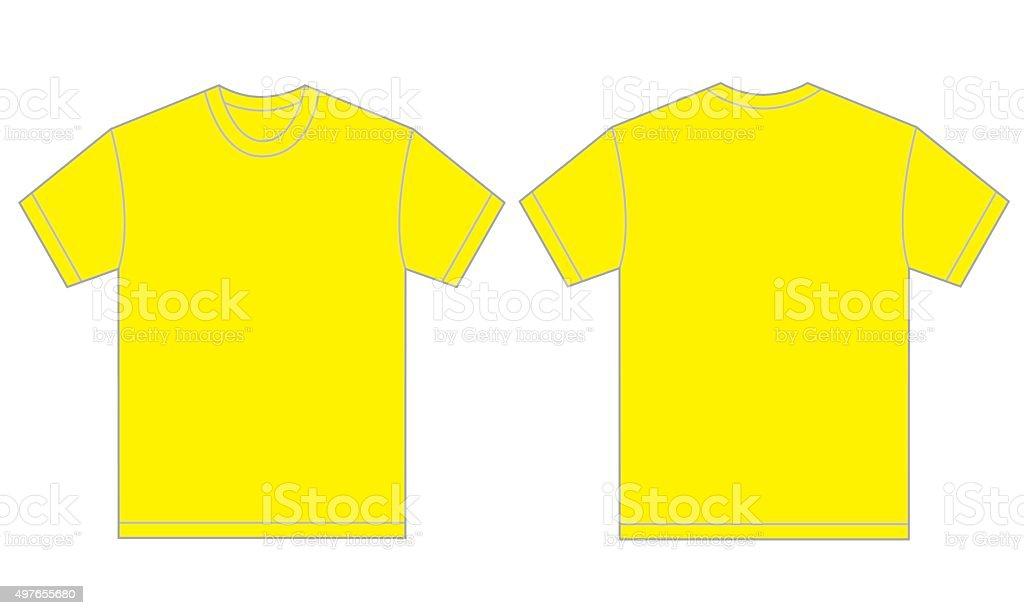 Camisa Amarilla Plantilla De Diseño De Los Hombres - Arte vectorial ...