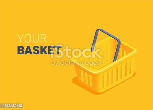istock yellow shopping basket 1313232140