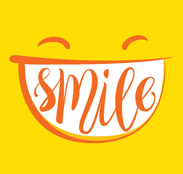 stockillustraties, clipart, cartoons en iconen met yellow smile poster. - smile