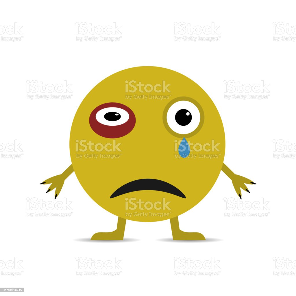 Yellow Smiley Face vector art illustration