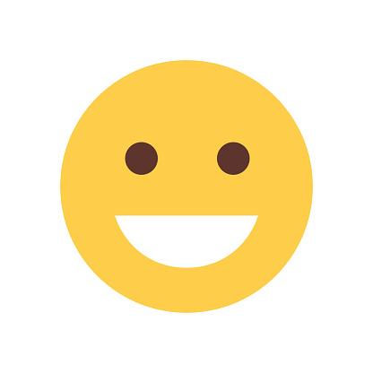 Ilustración de Cara Sonriente Amarilla De Dibujos Animados ...