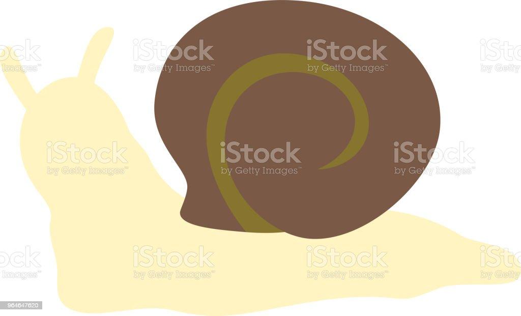 Yellow snail illustration 2 vector art illustration