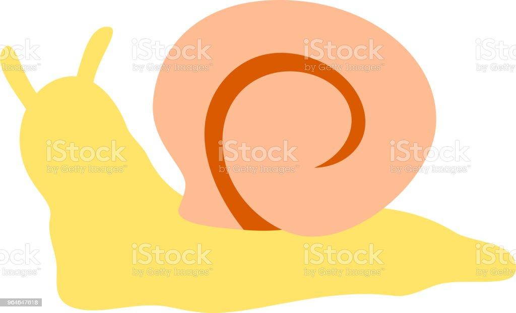 Yellow snail illustration vector art illustration