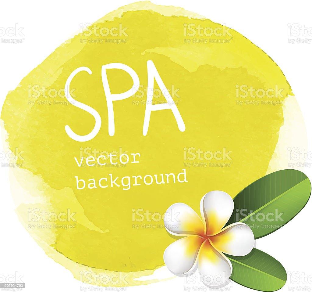 Yellow spa watercolor background vector art illustration