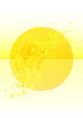 Bright yellow circle splash poster background