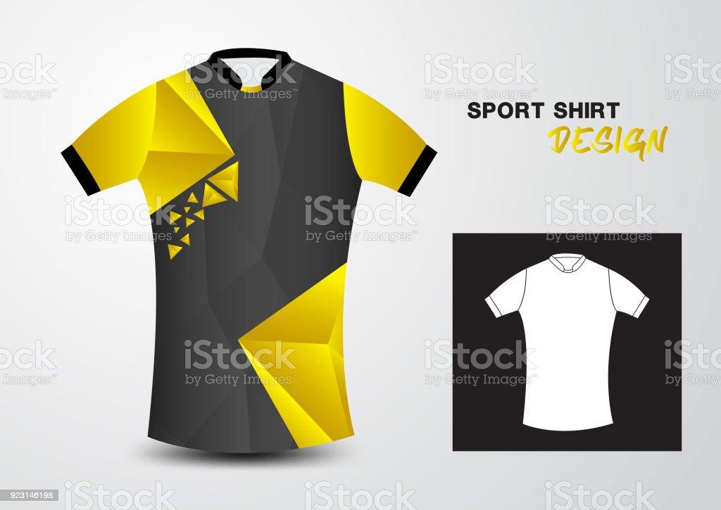 a41696d8b459 Ilustración de Plantilla De Diseño De Camiseta Amarilla Deportiva ...
