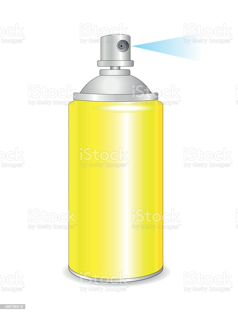 Yellow spray bottle,