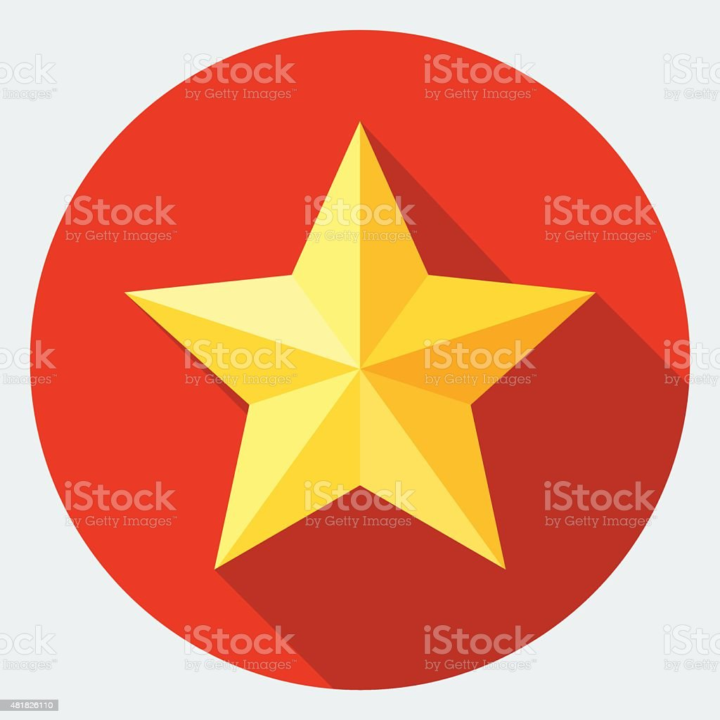 Yellow star icon vector art illustration