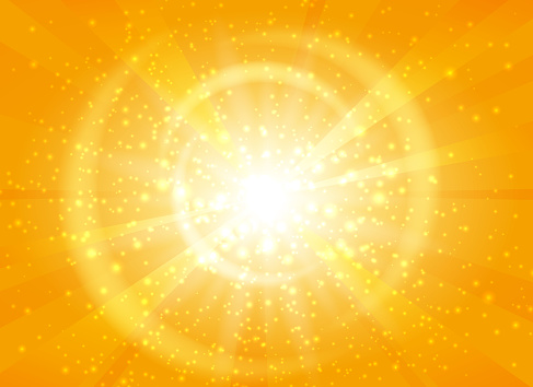 Yellow starburst background with sparkles