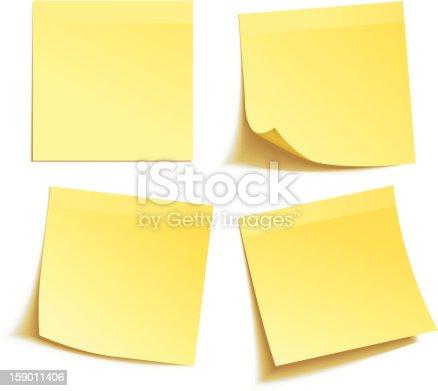 istock Yellow stick note 159011406