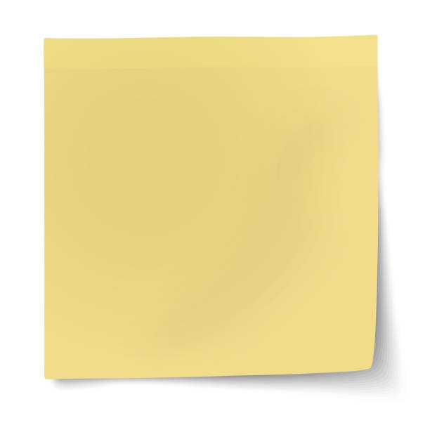 illustrazioni stock, clip art, cartoni animati e icone di tendenza di yellow sticky note isolated on white background. raster version illustration. - post it