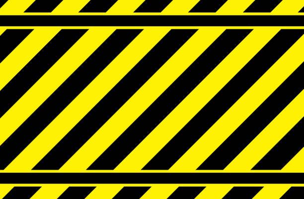 yellow striped background, warning strip, yellow striped pattern yellow striped background, warning strip, yellow striped pattern, vector image stealth stock illustrations