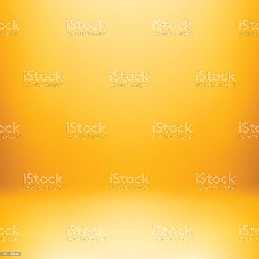 Plano de fundo amarelo Studio - ilustração de arte em vetor