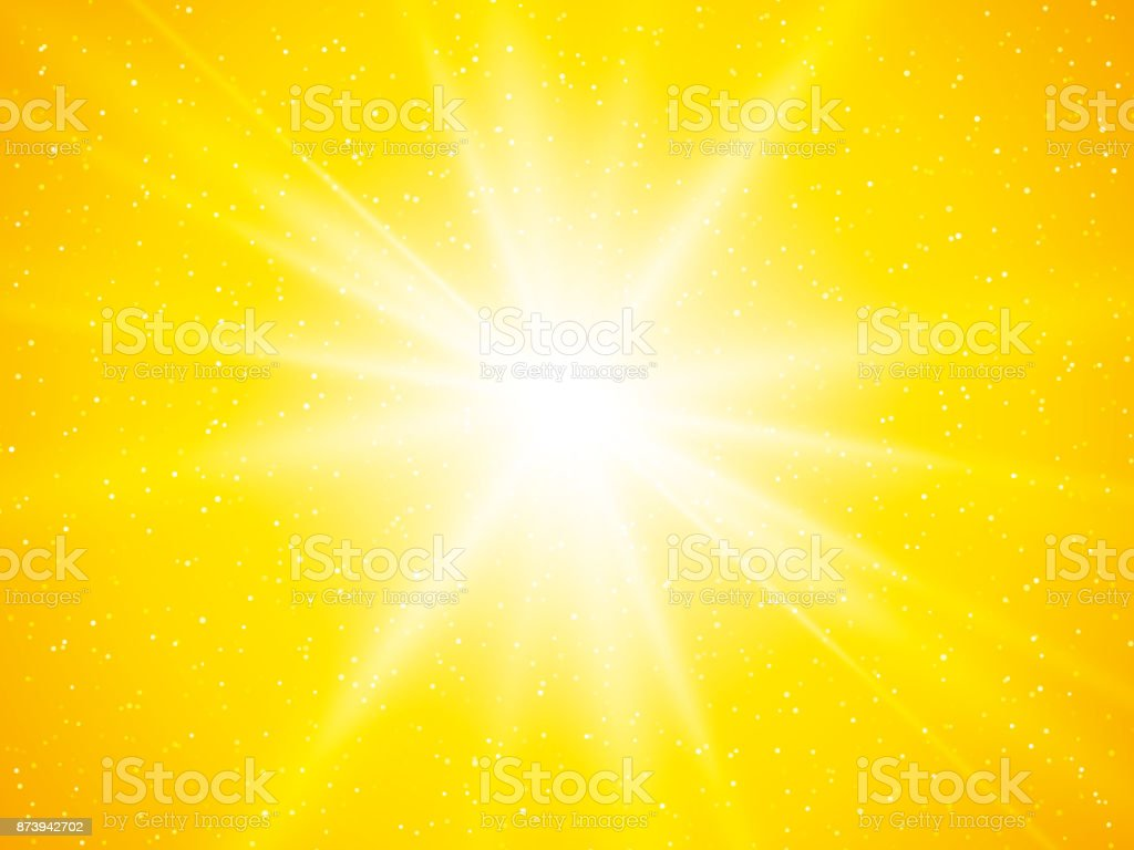 yellow sun rays and dots abstract background vector art illustration